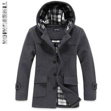 Männer Wolle Trenchcoat Heißer Verkauf Mode Herbst Winter Dick Schlank Stehkragen Freizeitjacke