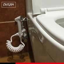 Аксессуары для ванной комнаты биде кран ручной душ портативный биде распылитель пистолет сиденье для унитаза биде домашний спрей без сверления