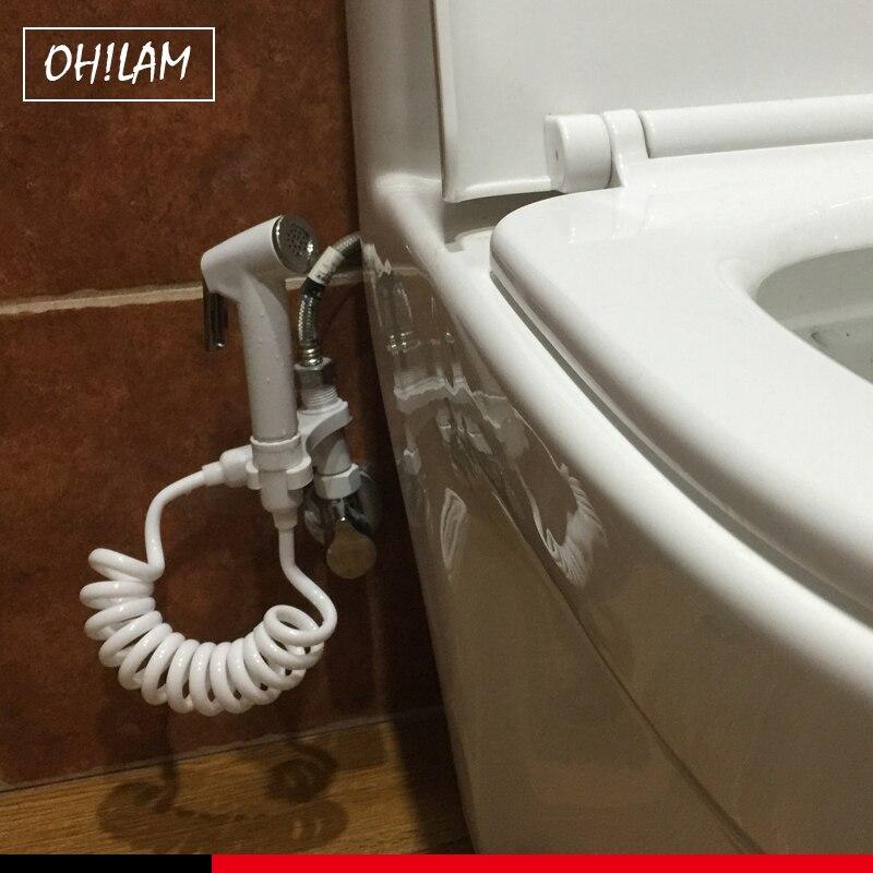 Bathroom Accessories Toilet Bidet Tap Handheld Shower Portable Bidet Sprayer Gun Toilet Seat Bidet Home Spray Without Drilling