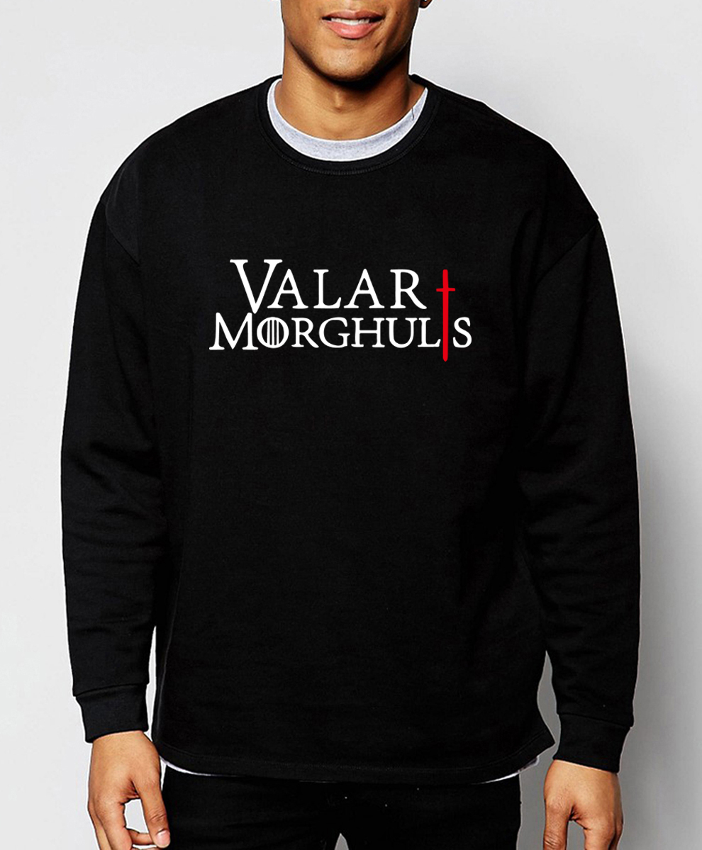 Game Of Thrones 2019 new spring winter fashion Valar Morghulis sweatshirt hoodies men fleece high quality tracksuit for fans