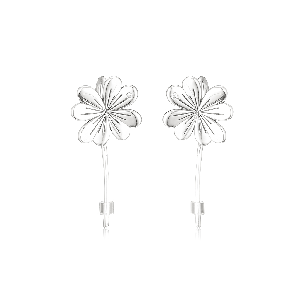 Pandulaso Lucky Four-Leaf Clovers Earrings 925 Sterling Silver Jewelry Anniversary Gift Spring Earring for Women Make UpPandulaso Lucky Four-Leaf Clovers Earrings 925 Sterling Silver Jewelry Anniversary Gift Spring Earring for Women Make Up