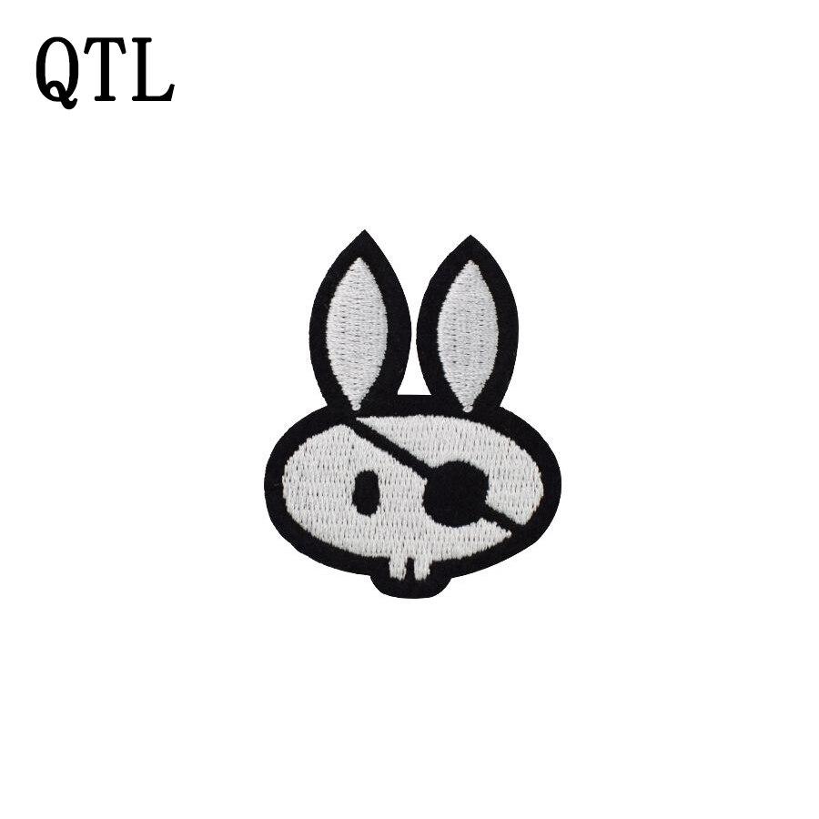 ୧ʕ ʔ୨5 unids conejo Pirat insignia parches para la ropa de hierro ...