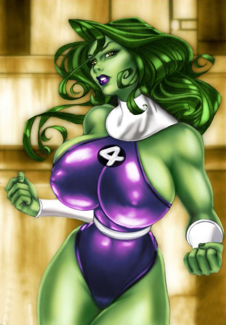 Super Sexy She Hulk With Boobs Oil Painting On Canvas Hand Painted