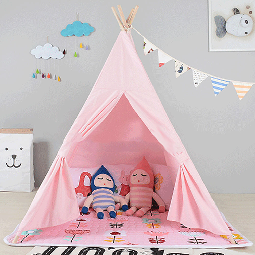 huge discount 07806 6828d US $73.07 50% OFF|Soft Cotton Children Play Tent Large Space Kids Play Tent  House Foldable Cute Princess Tents Toy House for Kids House Play Game-in ...