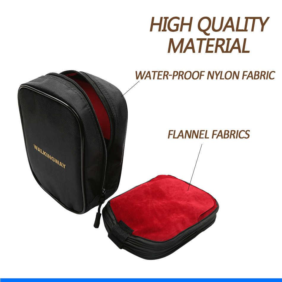 Bolsa de armazenamento para câmera, resistente à água, 16 ranhuras, quadrada 100mm 150mm filtro de filtro
