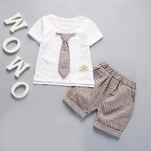 Toddler Kids Baby Boys Summer Outfits Short Sleeve T-shirt+Pants Gentleman Clothes Set baby boy clothes set outfits long sleeve shirt tops pants overalls kids gentleman clothing baby boys