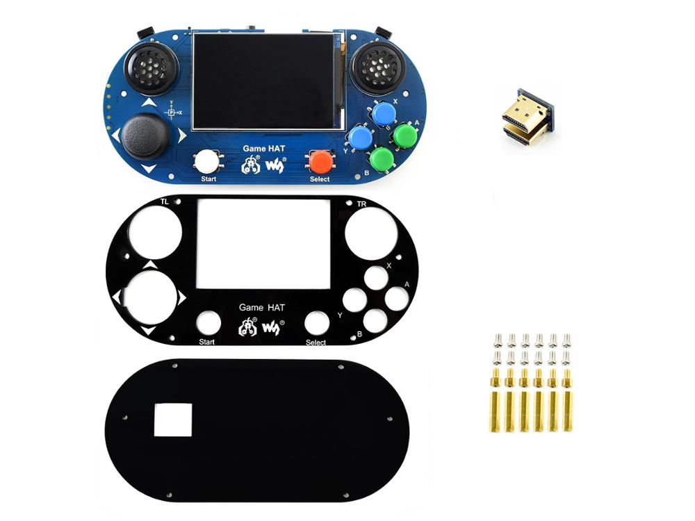 Image 2 - Game Console/Game Hat for Raspberry Pi A+/B+/2B/3B/3B+,3.5inch IPS screen,480*320 pixel .60 frame ,Onboard speaker,earphone jack-in Demo Board from Computer & Office