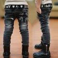 Crianças de moda calças de alta qualidade crianças Primavera e Outono palavra Arroz casuais calças jeans meninos 2-7 anos