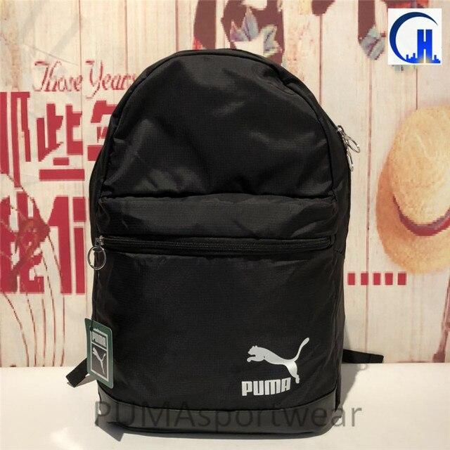 ebd5f8806 2018 nueva llegada PUMA originales clásico Unisex mochila negro mochilas  bolsas de deporte