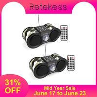 2 шт. Retekess V113 FM стереорадиоприемник цифровой MP3 музыкальный плеер Поддержка Micro SD карты/USB диск дистанционное управление