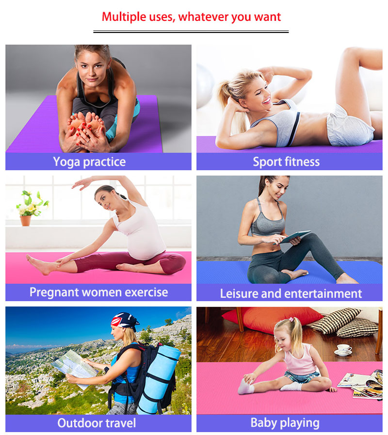 NBR Yoga Mat  15mm Thickness Slim Yoga Mats Non-slip Tasteless Fitness Esterilla Pilates Home Exercises Gym Sport Pad 12