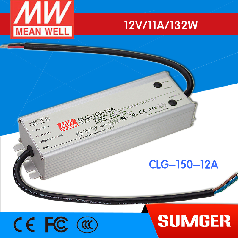 [NC-B] MEAN WELL original CLG-150-12A 12V 11A meanwell CLG-150 12V 132W Single Output LED Switching Power Supply meanwell 12v 100w ul certificated clg series ip67 waterproof power supply 90 295vac to 12v dc