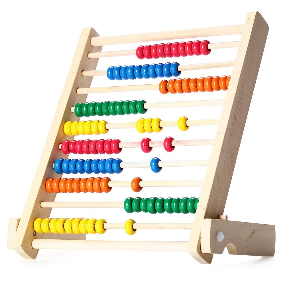 new colorful wooden fold beads abacus toys maths teaching tool