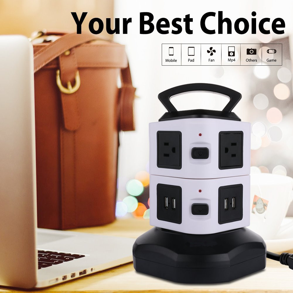 Intelligent power socket with surge protection device the 2USB socket us two layer cross-border electricity supply socke