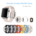Современный кожаный пряжка ремешок для apple watch 38 мм 42 мм ремень браслет и 20 мм из натуральной кожи ремешок для часов часы ремешок ремешок браун синий