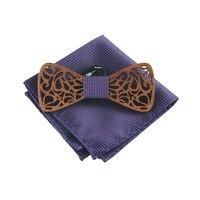 Mantieqingway Marca Pajaritas Corbatas de Pajarita Para Los Hombres Clásico De Madera De Madera De Madera Accesorios Bowknot Pajaritas para Los Hombres Corbatas Corbata