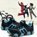 2016 Crianças de Verão Meninos Meninas Correndo Sapatos Sapatos de Couro Genuíno Calçados Esportivos Casuais Sapatos Kis 4 Cor