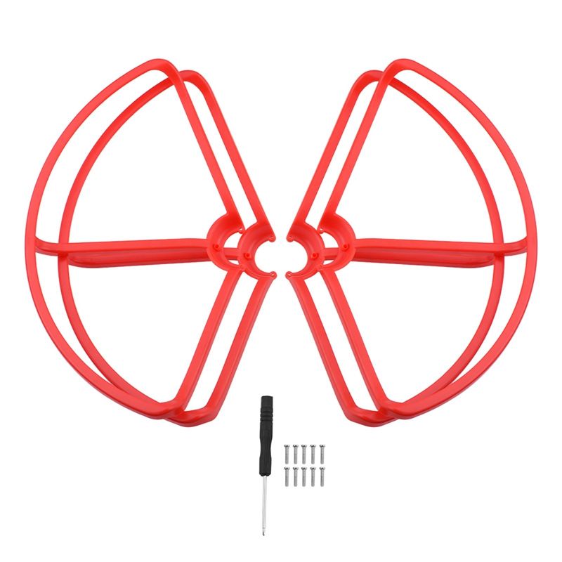 4Pcs/Set Propeller Guard For Xiaomi Mi Drone Rc Quadcopter Spare Parts Accessories(Red)(China)