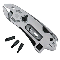 Multifuntion Pliers Survival Multi Hand Tools Mini Screwdriver Set Adjustable Wrench Jaw Spanner Pocket Knife Repair