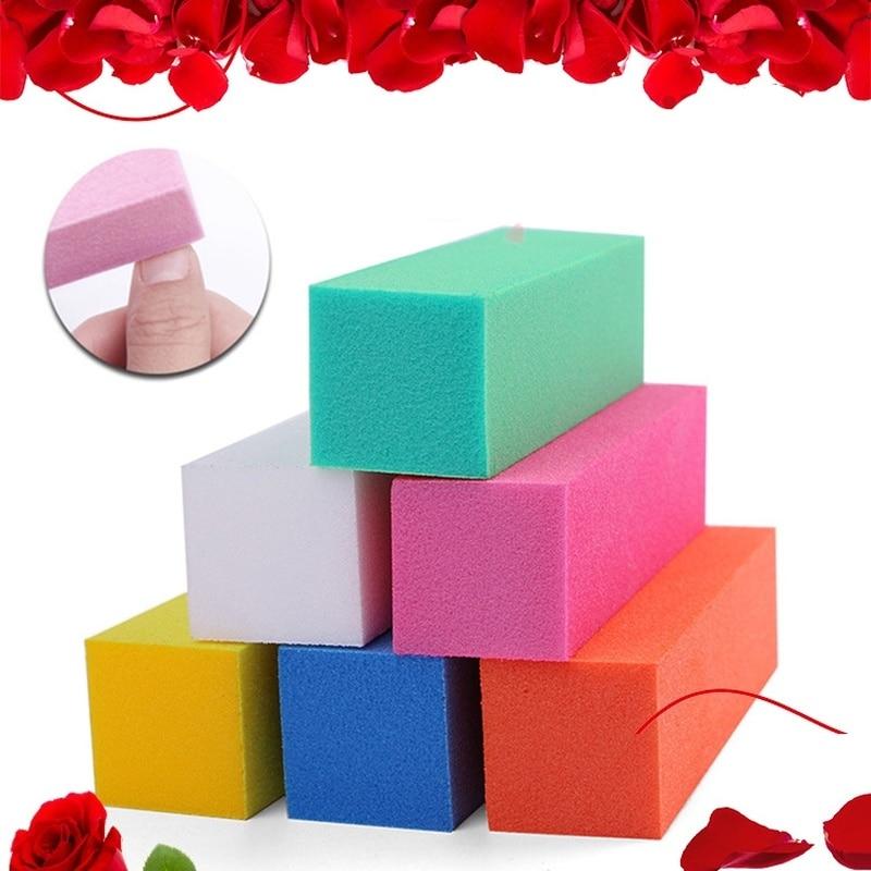 1Pcs Fashion Sponge Nail File Buffer Block Manicure Polish Sanding Nail Buffer Buffing Multi-colored Nail Art Tools Beauty Tools