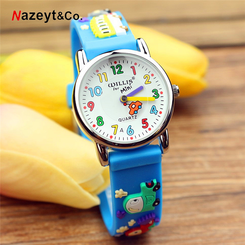 2019 Luxury Brand Nazeyt 3D Mini Car Design Analog Band Little Boys Girls Children Wrist Kids Watches,high Quality Waterproof