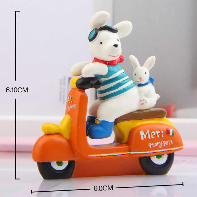1 cái Con Chó xe máy Thỏ Thu Nhỏ Bức Tượng phim hoạt hình Con Heo Đất Con Số mô hình động vật đồ chơi Vật Nuôi TỰ LÀM Phụ Kiện Búp Bê Trang Trí Nhà