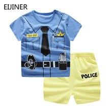 398d96a4dbea6 Одежда для новорожденных мальчиков, детские футболки с рисунком из  мультфильма «полицейский набор» +