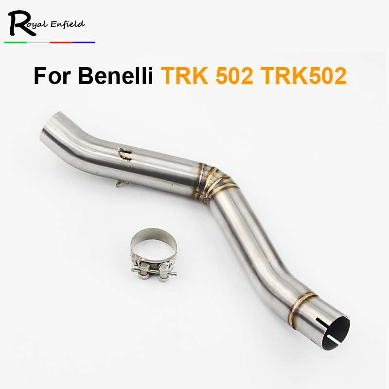 Motorcycle 51mm Exhaust Middle Link Pipe Connection Pipe For Benelli TRK 502 TRK502 All Years Moto Escape Accessory Slip-on 2018