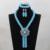 Cielo Azul/Verde Crystal Nupcial Joyería Africana Fija ANJ143 Partido Nigeriano Jewelry Beads Diseño Largo Del Envío Libre