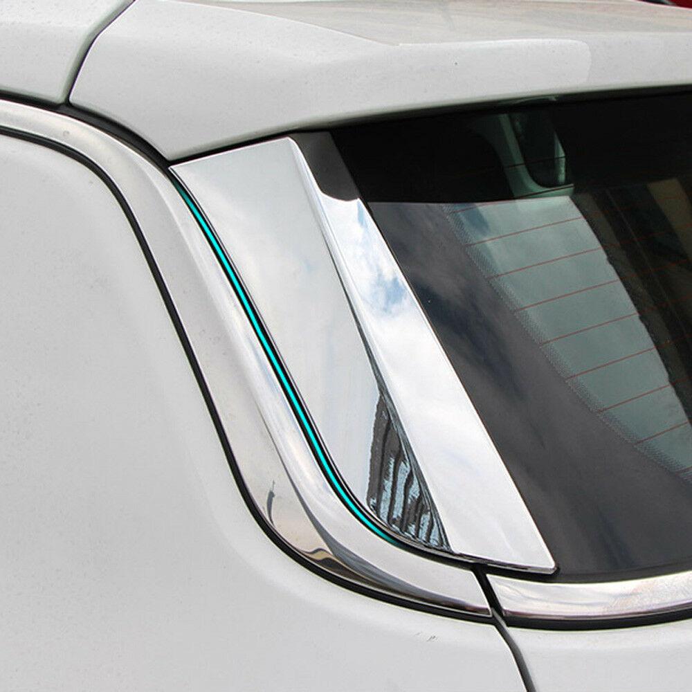 Pour Jeep boussole 2017-2018 Chrome fenêtre arrière Spoilers garniture de couvercle de moulage latéral
