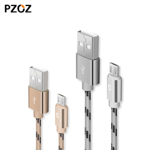 Pzoz 5V2A Micro USB nylon Cable For Xiaomi USB Data Charger Cable Mobile Phone Cables Quick Charger For Samsung Sony HTC Oneplus