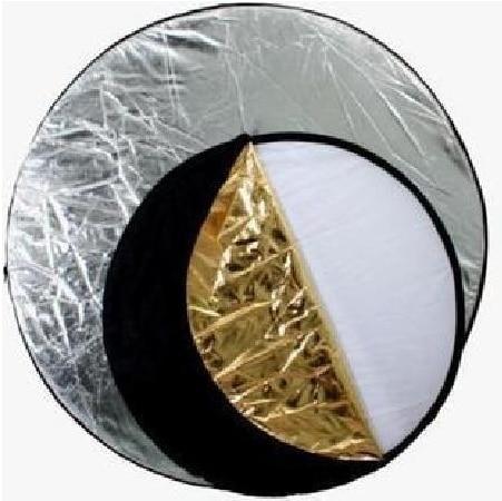 5-en-1 (43 '') or, argent, blanc, noir photographie réflecteur de lumière pliable, accessoire de Studio de haute qualité - 4