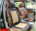 Frete grátis 1 PC aço & conjuntos de almofada do assento de carro de madeira com pano Net universal suporta cintura massagem suprimentos sedan
