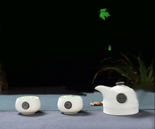 Creative snowflake glare fast guest cup, including 1 pot 2 cups of tea set, travel portable travel ceramic coffee tea set