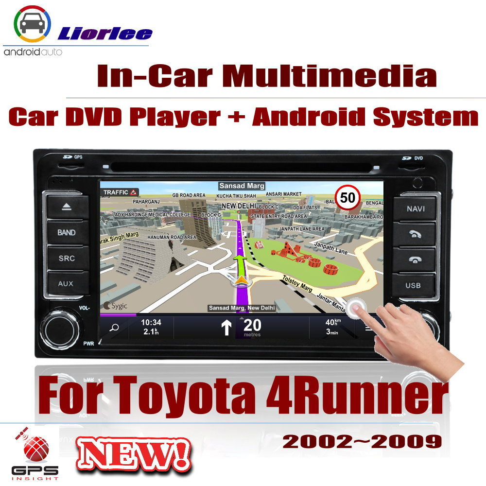 Auto GPS Navigation For <font><b>Toyota</b></font> <font><b>4Runner</b></font> / SW4 / Hilux Surf 2002~<font><b>2009</b></font> Car Android Multimedia Player DVD Radio Stereo AMP USB SD image