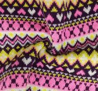 En gros jacquard tricot polyester tissu faux designer de luxe sacs à main bagages animal tweed Jouet chaussures tissus textiles pour la maison C235