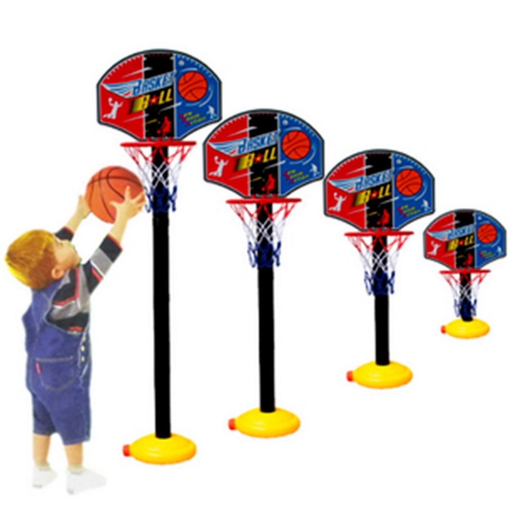 New Kids Children Mini Adjustable Basketball Stand & Balls Pumps Set with Inflator Toys for Boys Outdoor Fun & Sports Toy