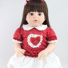 70cm Big Size Reborn Baby Dolls Soft Vinyl Reborn Big Size Baby Toddler Dolls Lifelike Baby Dolls Toy Clothing Model Girls