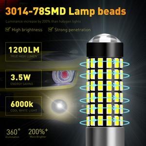 Image 5 - Katur 2 個H27W/1 880 ledの球根車のライトledフォグランプ · ドライビングランプ 78SMD 3014 車ライトsourse 6000 18kホワイトH27W1 H27 led