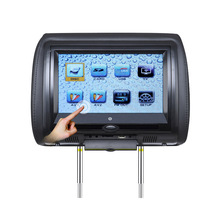 7 Inch Car Headrest DVD Player Monitor With 800*480 TFT LED Touch Screen Support USB Games Remote Control