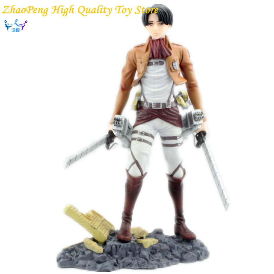 Attack On Titan Anime Survey Legion 25cm Levi Rivaille Anime Figure  PVC Ackerman Action Figure Rivuai Kids Toys TW16 attack on titan anime 17 cm mikasa ackerman battle version pvc anime figure collection doll model toy kids toys pm scene tw18