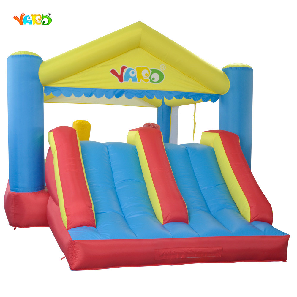 YARD Kids Bouncy Large Inflatable Jumping Castle Inflatable Bouncer Bounce House with Double Slides for Party giant super dual slide combo bounce house bouncy castle nylon inflatable castle jumper bouncer for home used