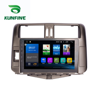 Octa Core 1024*600 Android 8.1 Car DVD GPS Navigation Player Deckless Car Stereo For Toyota Land Cruiser 2010 2013 Radio WIFI
