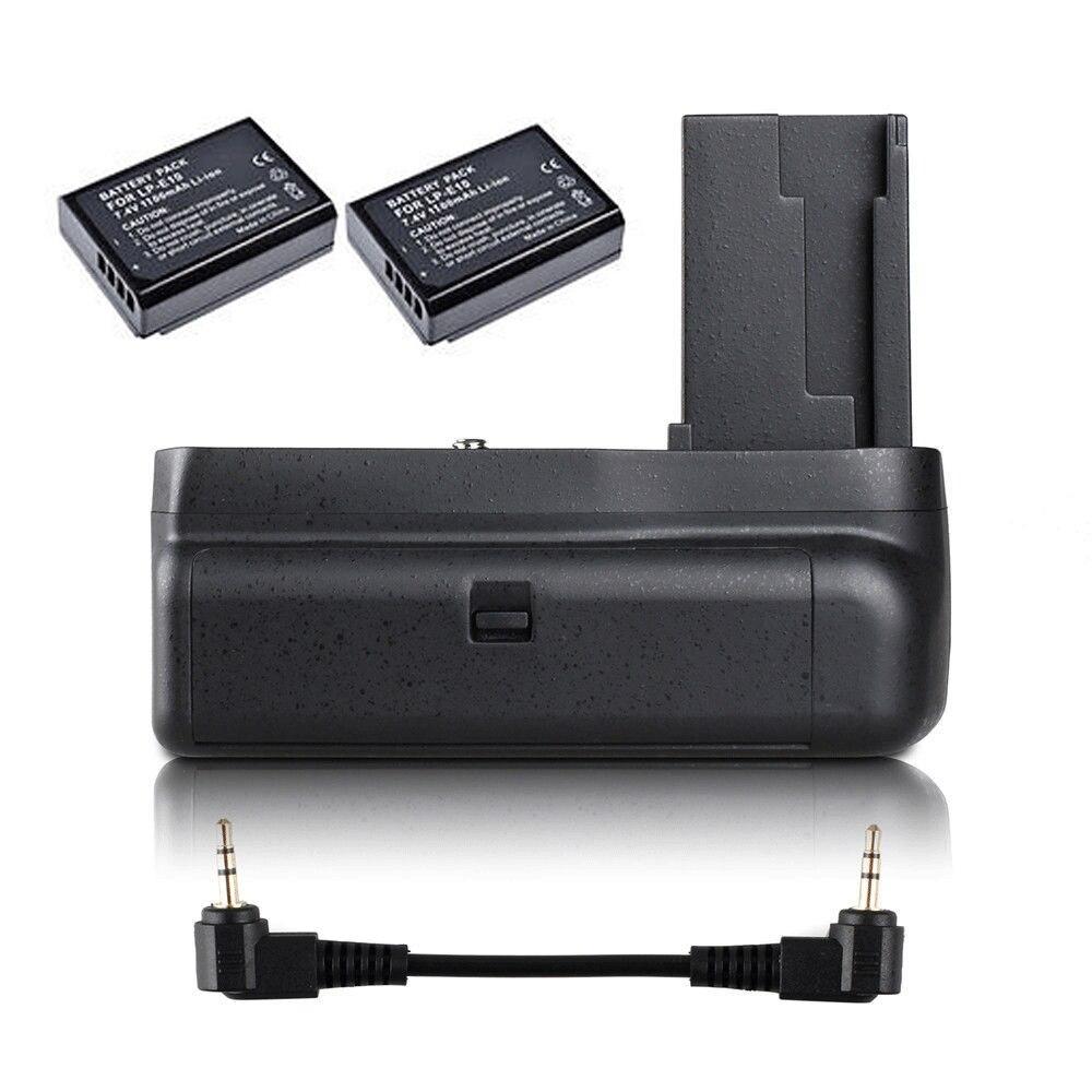 JINTU Vertical Batterie Grip + 2 pcs LP-E10 Kit pour Canon EOS 1100D 1200D 1300D/Rebel T3 T5 T6/baiser X50/70 SLR Caméra W/demi-presse