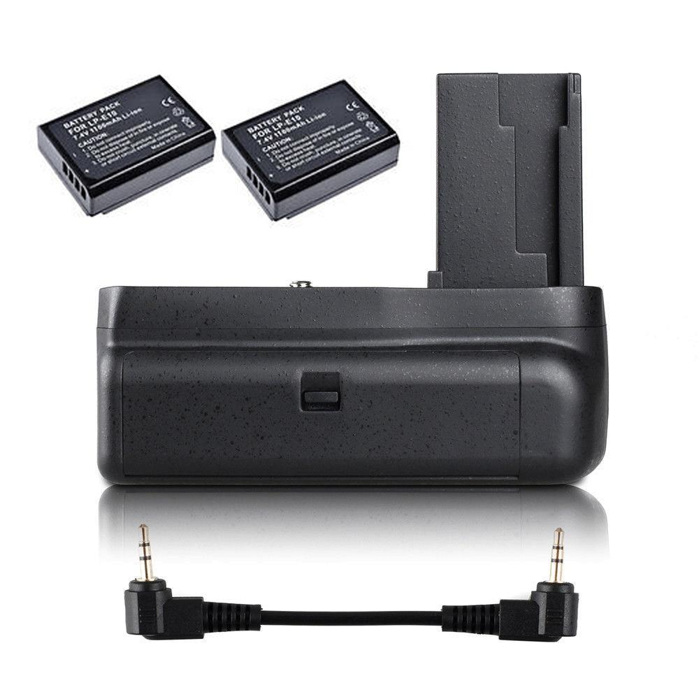 JINTU Vertical Battery Grip +2pcs LP-E10 Kit for Canon EOS 1100D 1200D 1300D/Rebel T3 T5 T6/kiss X50/70  SLR Camera W/half-pressJINTU Vertical Battery Grip +2pcs LP-E10 Kit for Canon EOS 1100D 1200D 1300D/Rebel T3 T5 T6/kiss X50/70  SLR Camera W/half-press