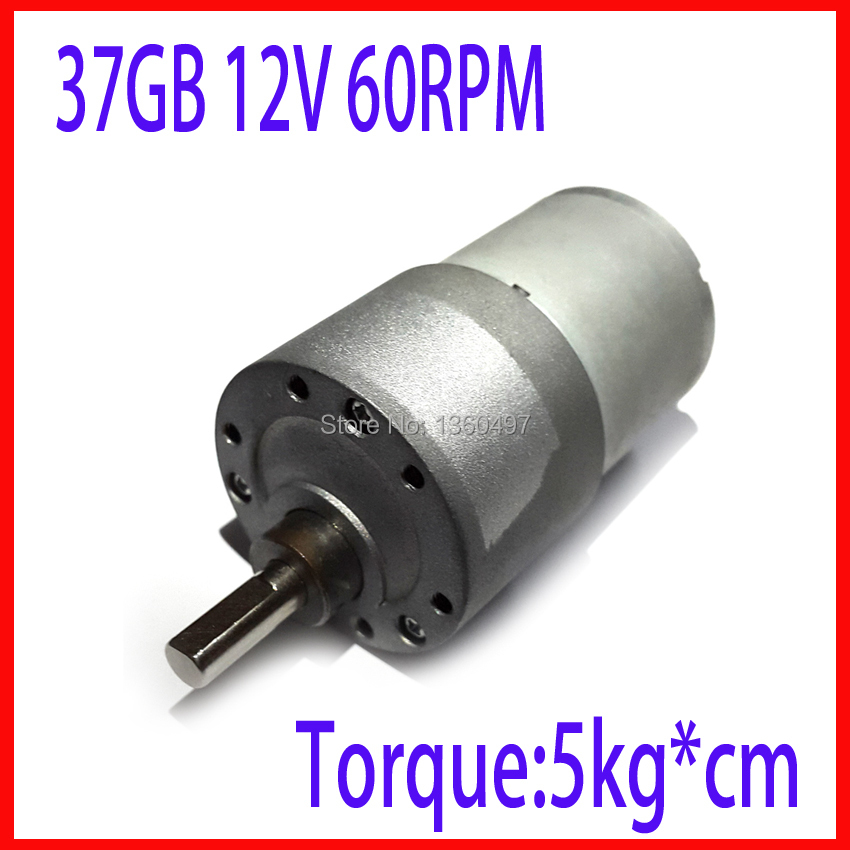12VDC 3.5//15//60RPM Powerful Torque Micro Speed Reduction Gear Box Motor Electric