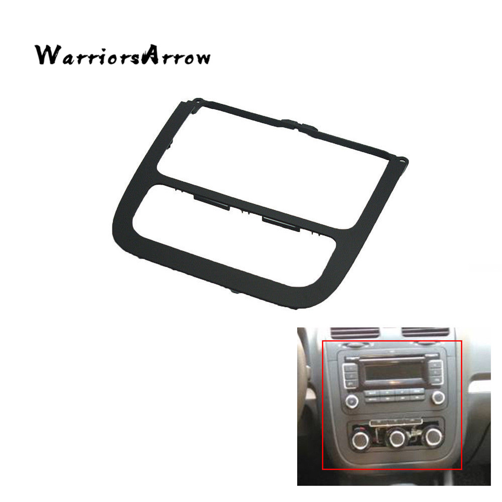 Warriorsarrow Black Dash Surround Radio Panel Plate Frame Trim Cover Jetta Mk5 Fuse Box For Vw 2005 2006 2007 2008 2009 2010 1kd858069 In Fascias From Automobiles