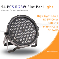 4pcs/lot New 54pcs rgbw DMX LED Mini Par stage light plastic cheap flat par light for party night club