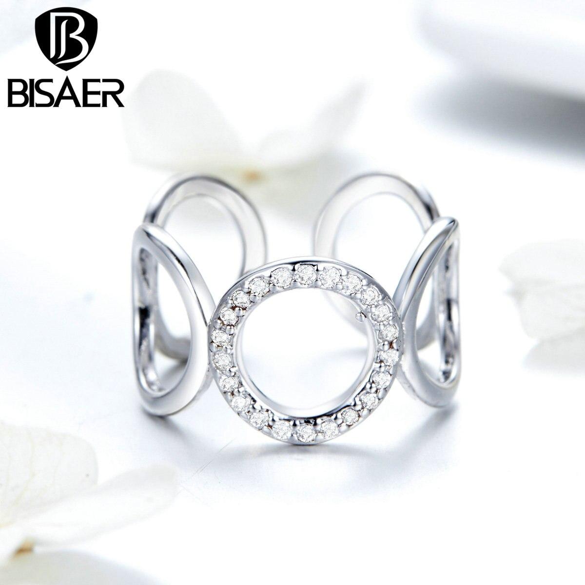 Женское кольцо Bijoux gasaer, круглое регулируемое кольцо с кристаллом, 2019