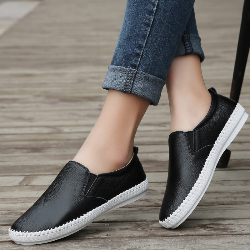WOLF WHO Summer Leather Espadrilles Women Moccasins Female Loafers Flats Shoes Ladies Slipony Slip on Krasovki Footwear H-066 wolf who 2017 summer loafers cut out women genuine leather shoes slip on shoes for woman round toe nurse casual loafer moccasins